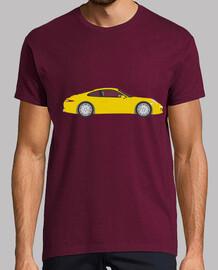 t-shirt da uomo porsche 911, corta - a maniche, bordeaux, qualità extra