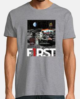 t-shirt da uomo primo t-shirt da uomo - astronauta sulla luna
