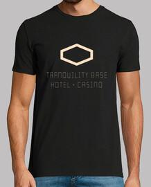 t-shirt da uomo scimmie artiche, stile retrò, nera e bianca - hotel base tranquillità + casinò