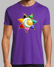 t-shirt da uomo simbolo del cerchio solare