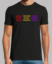 t-shirt da uomo slogan pubblico