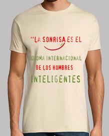 t-shirt da uomo sorriso