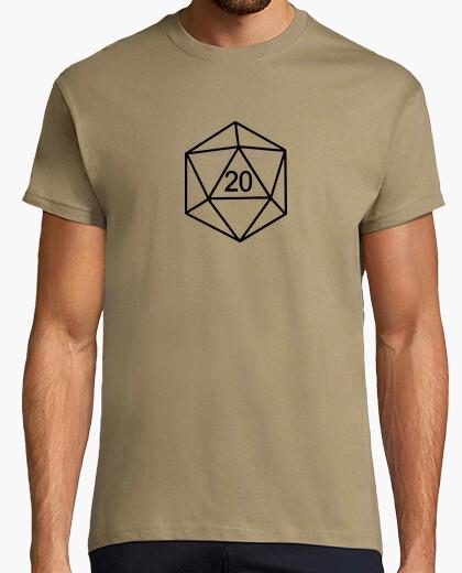 T-shirt dado 20 - giochi di giochi di ruolo