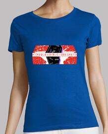 t-shirt dame carré bleu