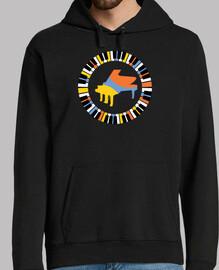 T-shirt de piano circulaire coloré