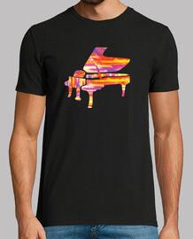 t-shirt de piano coloré