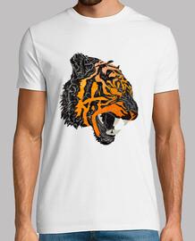 t-shirt de rugissement de tigre