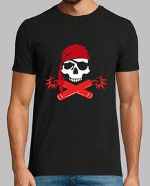 t-shirt der männer - lustiger roger-pirat dynamit