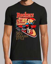 t-shirt des années 1950 pinup rockabilly rocker