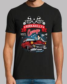 t-shirt des années 1950 rockabilly pinup american retro car