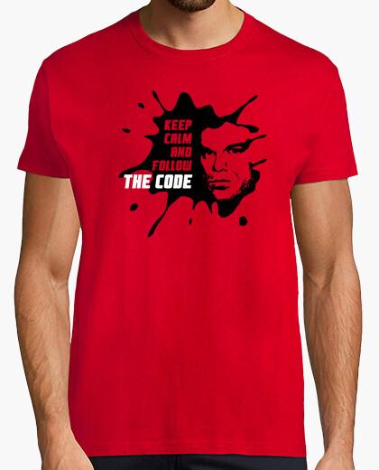 T-shirt dexter: keep calm and follow il code
