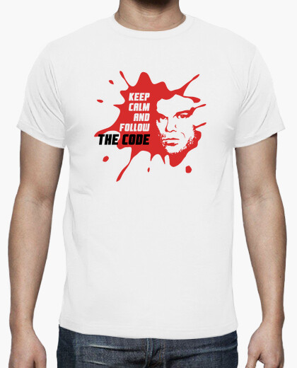T-shirt dexter: keep calm and follow il code
