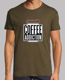 t-shirt dipendenza da caffè