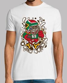 t-shirt divertente cartoni animati t-shirt divertente hockey su ghiaccio
