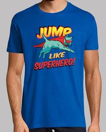 t-shirt divertente fumetti supereroi gatto t-shirt divertente