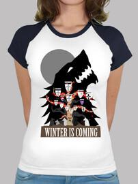 t-shirt donna - casa stark