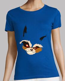 t-shirt donna - rocket racoon (con la coda)