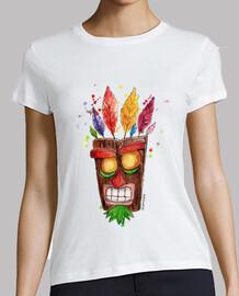 t-shirt donna aku aku maschera