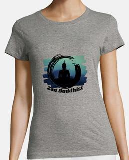 t-shirt donna buddista zen