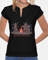 T-shirt donna, colletto alla coreana