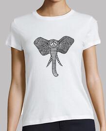 t-shirt donna davanti elefante
