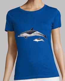 t-shirt donna delfino macchiato pantropical