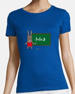 t-shirt donna lavagna asino