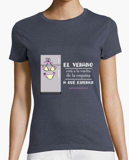 T-shirt Donna, manica corta, grigia scura,...