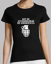 t-shirt donna manica corta kit accessibilità
