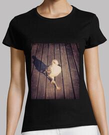t-shirt donna modello di gabbiano