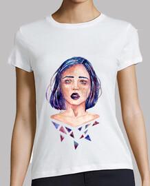 t-shirt donna ragazza in pezzi