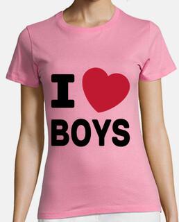 t-shirt donna rosa - l amore boys