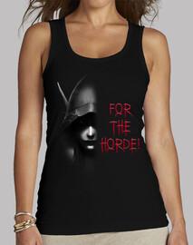 t-shirt donna sylvanas b & n for l'orda!