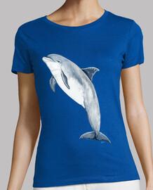 t-shirt donne, a breve - maniche, cielo blu, di qualità premium