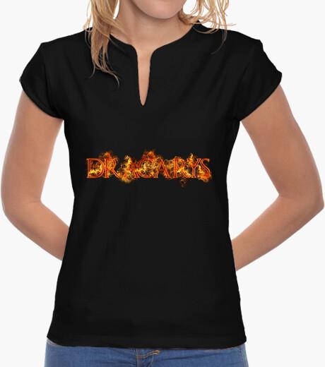 T-shirt dracarys fuoco