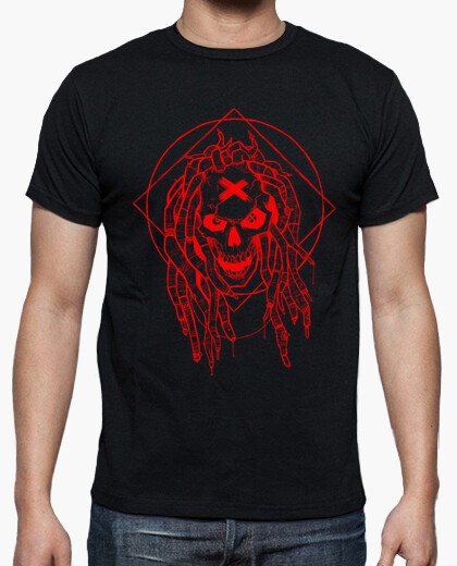 T-shirt dreadlocks rosse