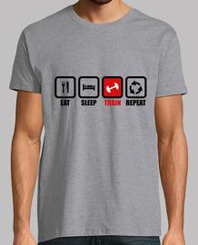 T-shirt Eat,sleep,train,repeat