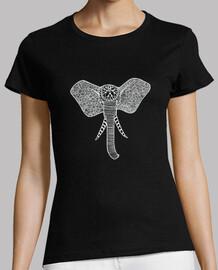 t-shirt elefante davanti bianco, donna