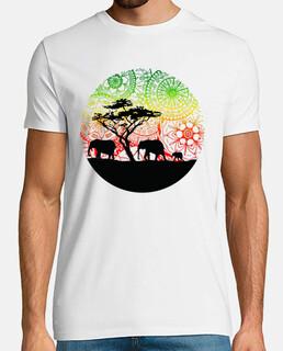 t-shirt elefanti famiglia, uomo