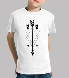 T-shirt enfant flèches triangles