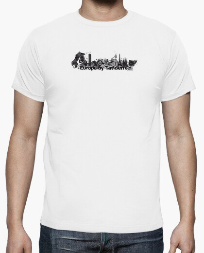 T-shirt europa in tandem nero 4