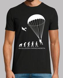 t-shirt evoluzione paracadutista mod.1