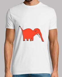 t-shirt fantastink t-shirt elefante rosso
