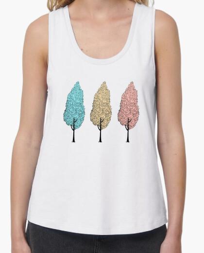 Tee-shirt T-shirt femme bretelles amples et Loose Fit, Blanc