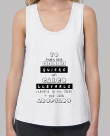 T-shirt femme bretelles amples et Loose Fit, Blanc