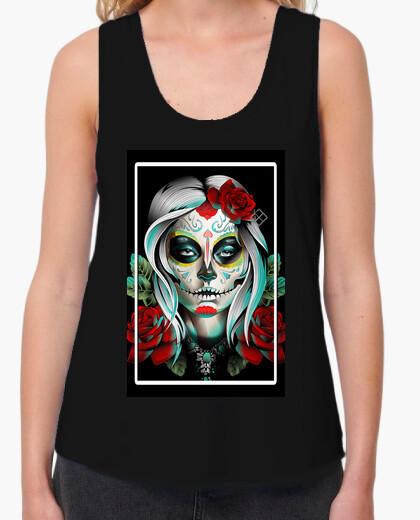 Tee-shirt T-shirt femme bretelles amples et Loose Fit, Noir