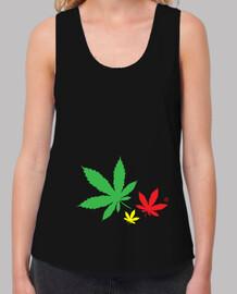 T-shirt femme bretelles amples et Loose Fit, Noir