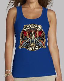 T-shirt femme bretelles amples et Loose Fit, Rouge