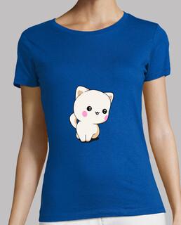 t-shirt femme chaton drôle chibi