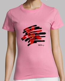t-shirt femme fleur tropicale